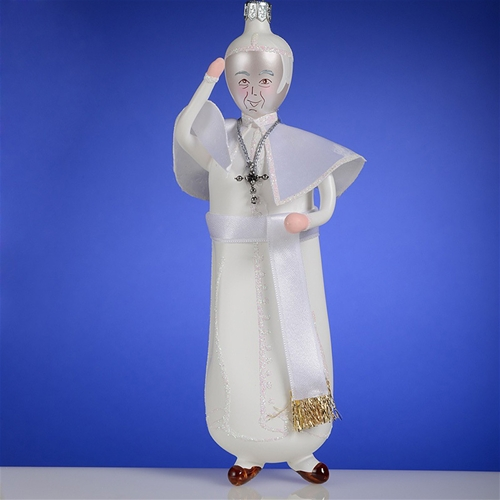 De Carlini Pope Francis Italian Glass Christmas Ornament The ...