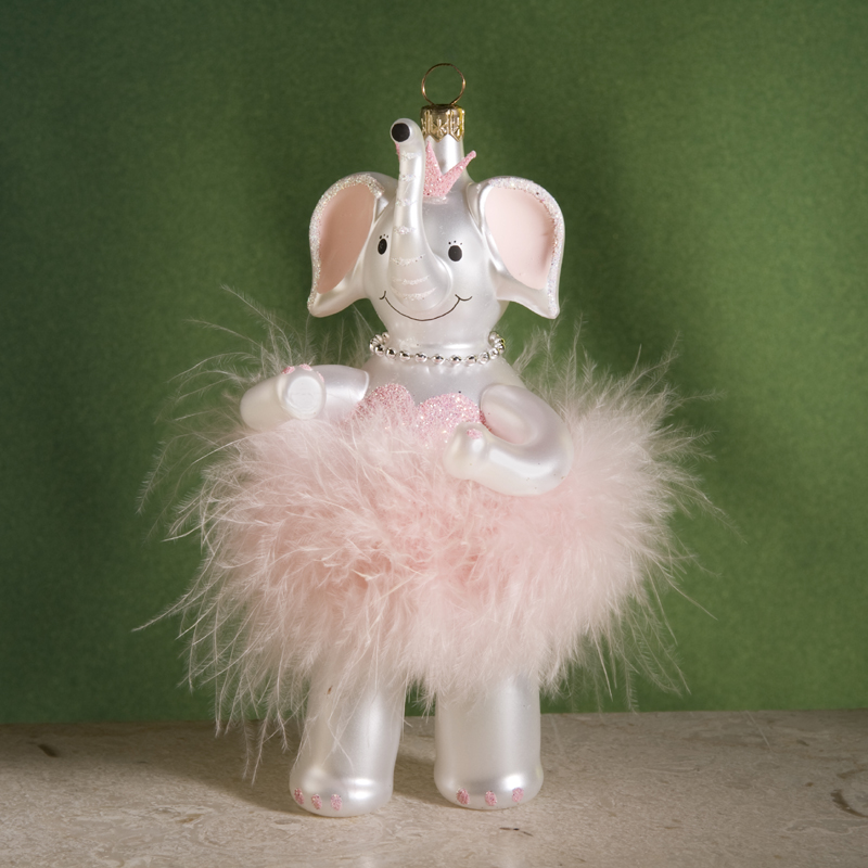 de carlini elephant ballerina christmas ornament click on thumbnail to zoom