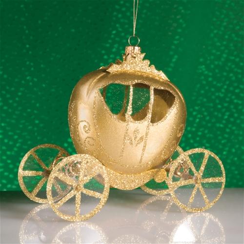 De Carlini Cinderella Carriage Christmas Ornament - De Carlini Cinderella Set Of Christmas Ornaments The Cottage Shop