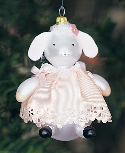 De Carlini Baby Lamb Italian Christmas Ornament - De Carlini Baby Lamb Italian Christmas Ornament The Cottage Shop