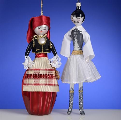 De Carlini Greek Couple Christmas Ornaments The Cottage Shop