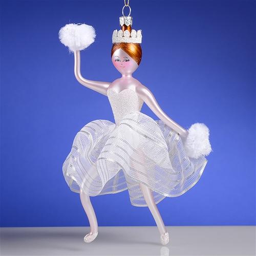 De Carlini Snowflake Ballerina Christmas Ornament The