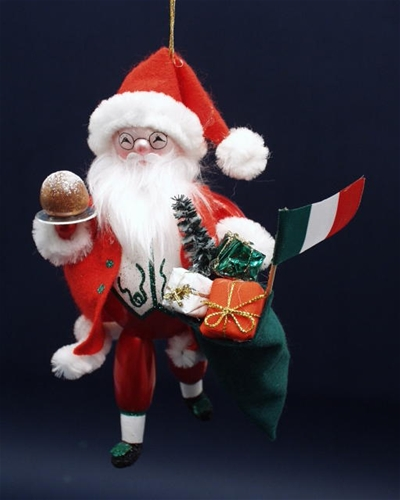 De Carlini Italian Santa Christmas Ornament The Cottage Shop