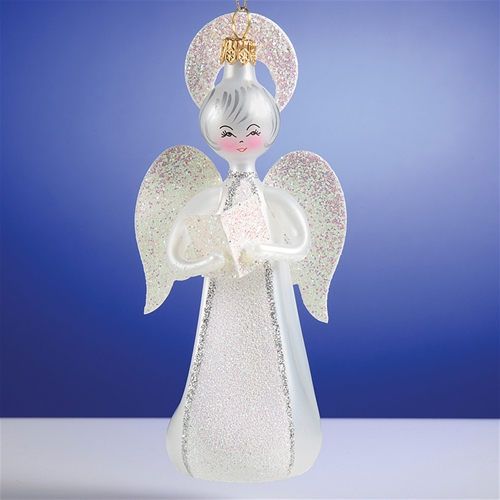 Halo Christmas Ornament.De Carlini Angel With Halo Christmas Ornaments The Cottage Shop