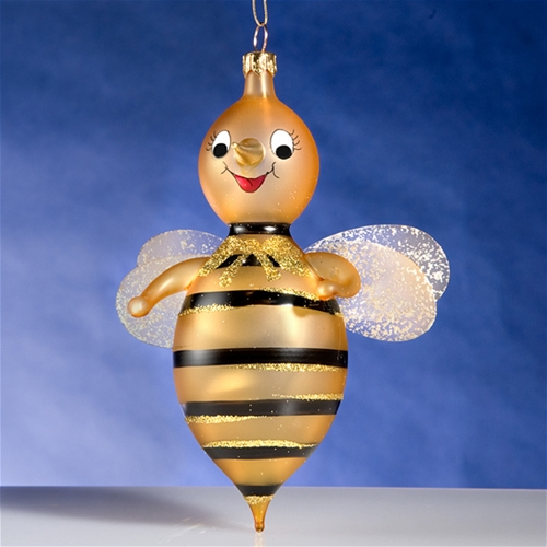 De Carlini Baby Bee Christmas Ornament - De Carlini Bees Christmas Ornaments The Cottage Shop