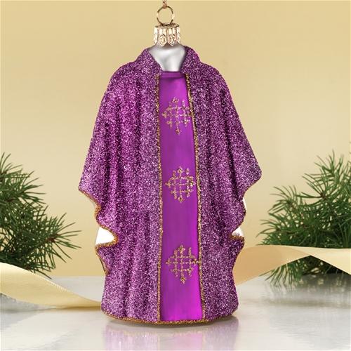 Purple Priest Vestment Polish Glass Christmas Ornament The ...
