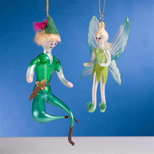 De Carlini Peter Pan and Tinkerbell Christmas Ornaments The ...