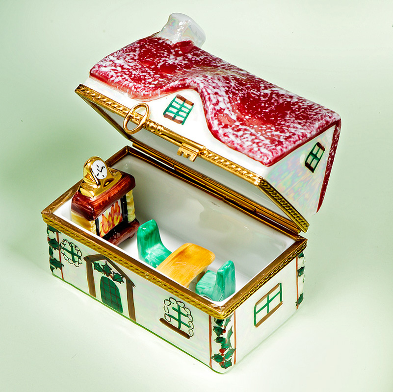 Limoges Santa House With Furniture Box The Cottage Shop
