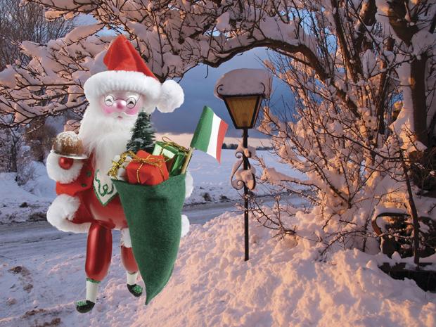 Babbo Natale Italy.De Carlini Italian Santa Babbo Natale With Panetone Christmas